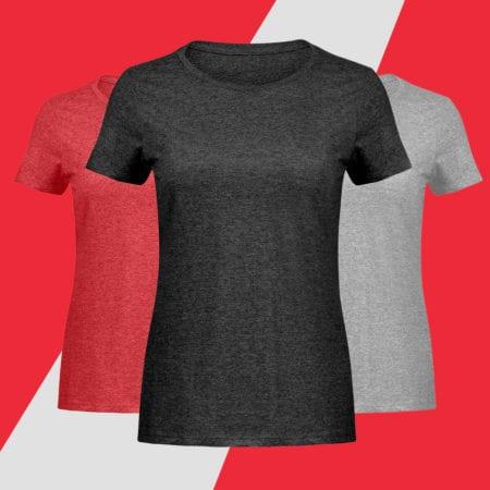 Damen Melange Shirts